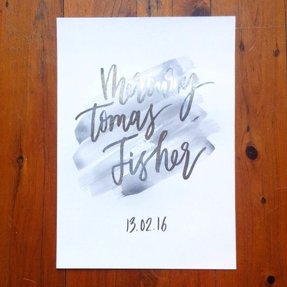 29th February | Custom print for a friends new baby boy.
