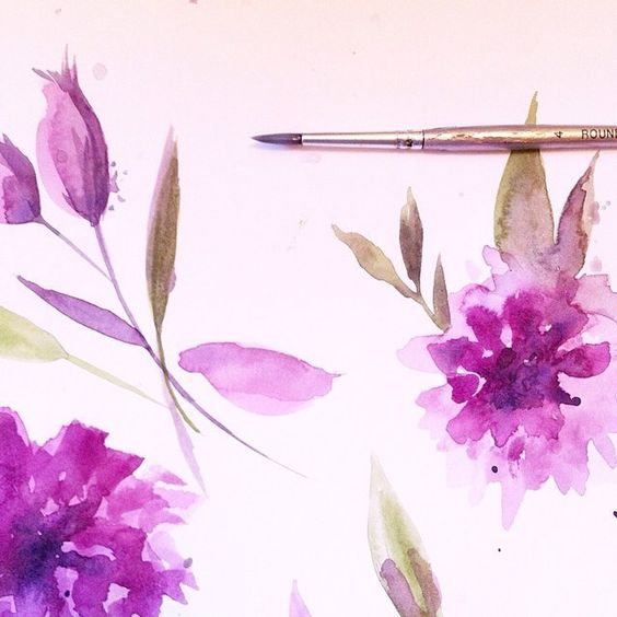 27th February | Watercolour florals for a new Collection Range - coming soon!