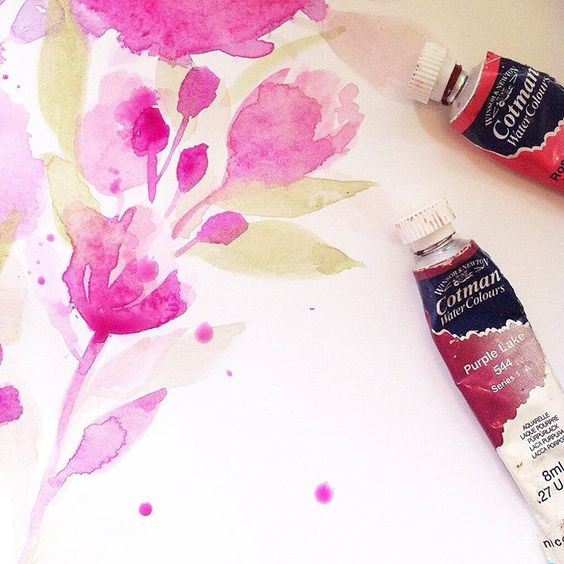 19th February | Watercolour florals for a custom wedding print.