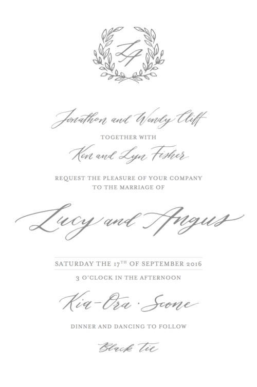 Invitation wording etiquette better together paper co these days there is no single correct way of wording you wedding stationery a lot of your decisions will be based on how formal or informal your day is stopboris Gallery