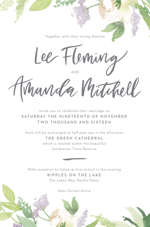 Invitation wording etiquette better together paper co these days there is no single correct way of wording you wedding stationery a lot of your decisions will be based on how formal or informal your day is filmwisefo