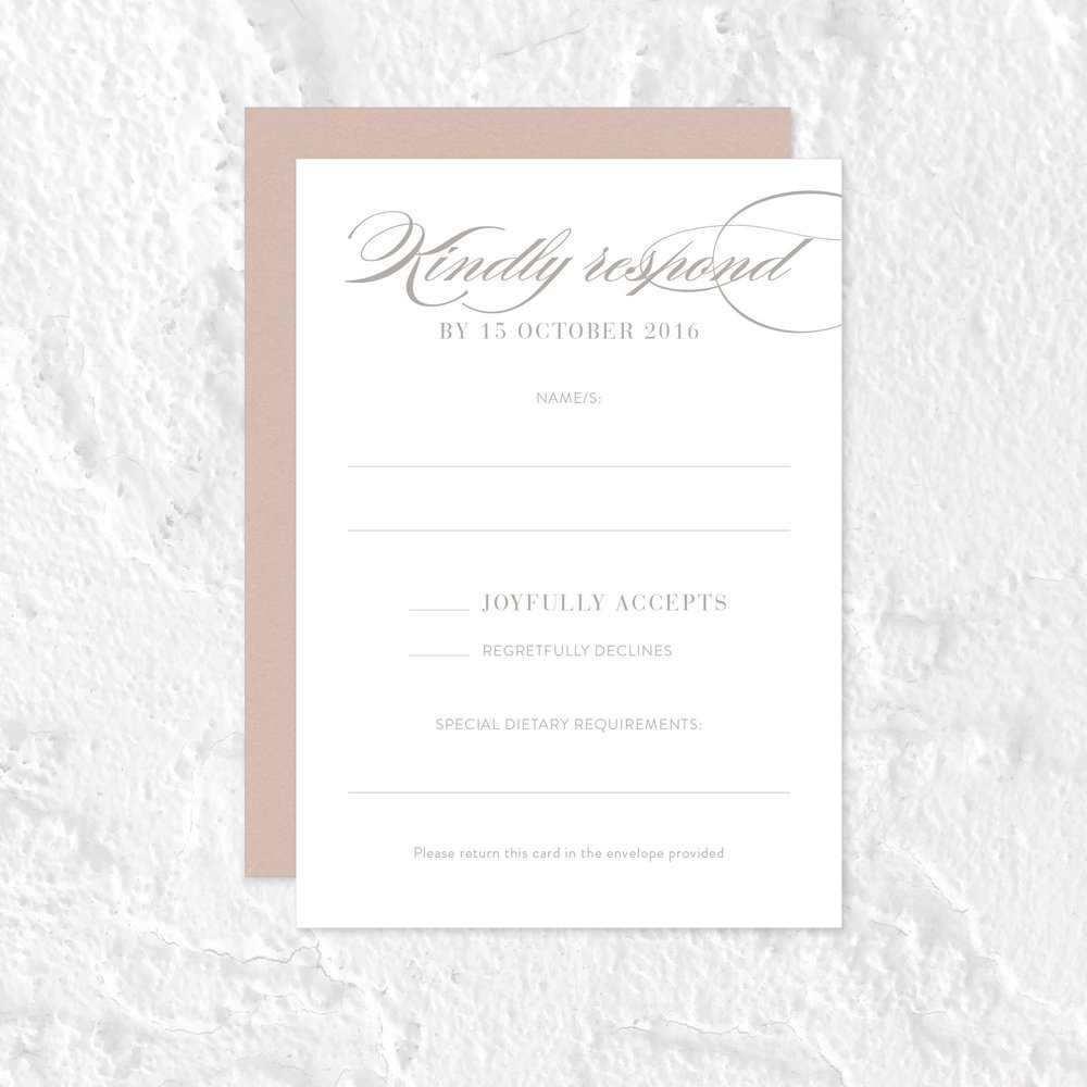 RSVP Card with Return Envelope