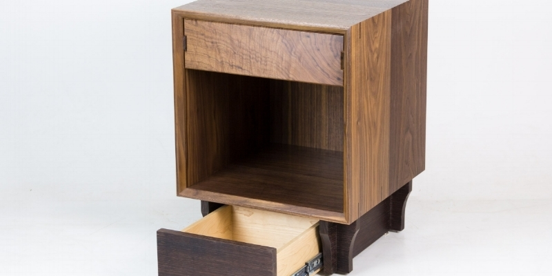 Qline Qube Nightstand with Secret Compartments