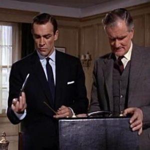 Hidden compartment in James Bond's briefcase