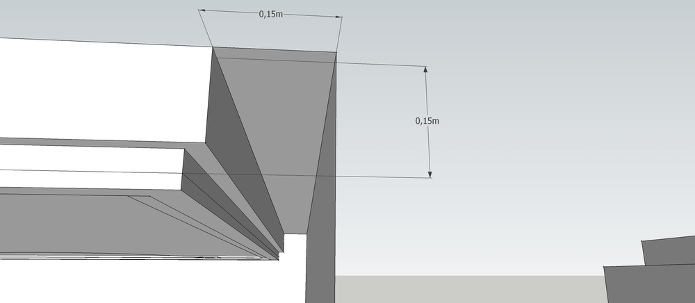 Detalhe do forro de gesso em um projeto nosso. 15 cm é o necessário para esconder a iluminação, e num pé direito de até 2,50m, não sufoca o ambiente!