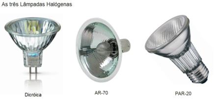Esses são os três tipos básicos de incandescentes. Mas veja, todas elas já tem substitutos em led, recomendável!