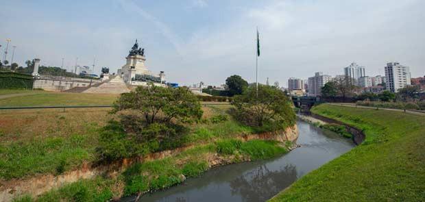 As margens plácidas do riacho do Ipiranga