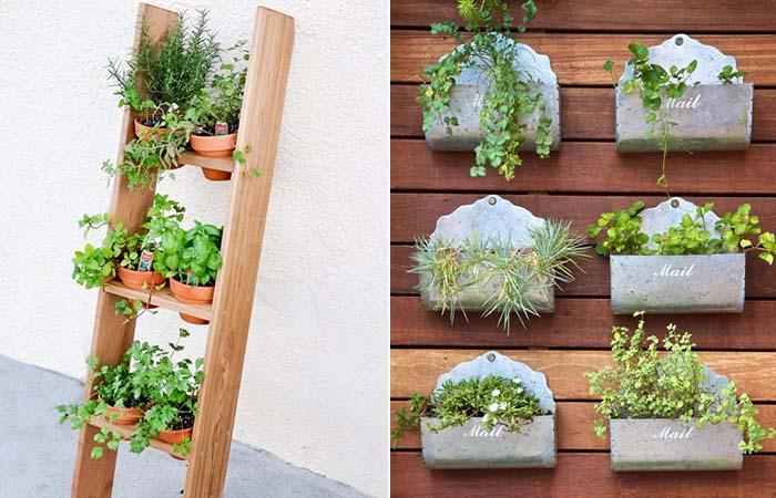 jardim vertical para varanda de apartamento:Jardins Verticais e Pequenas Hortas