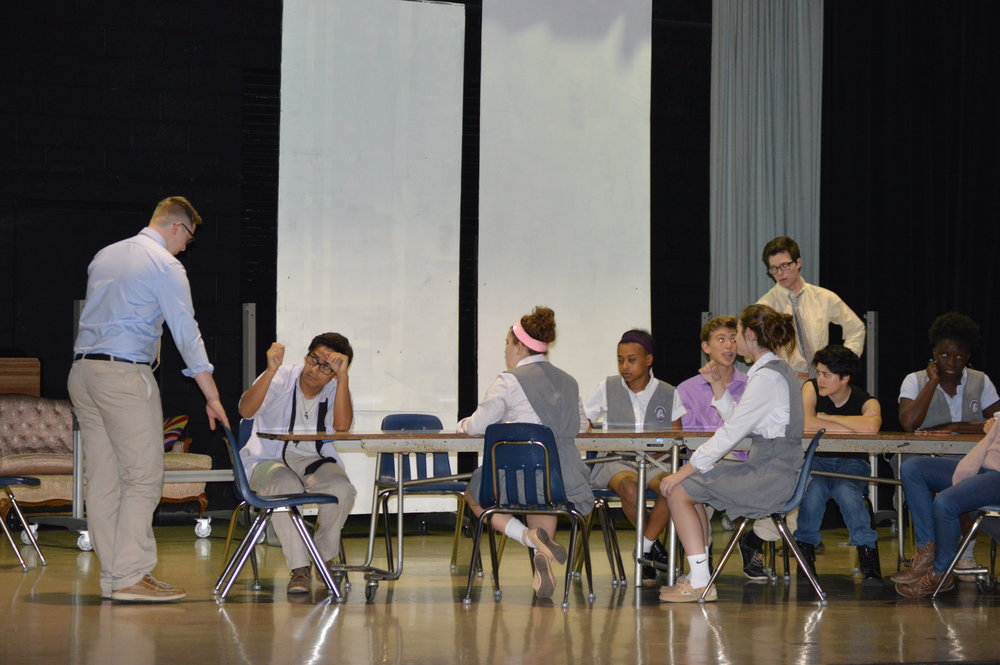 A scene from rehearsal