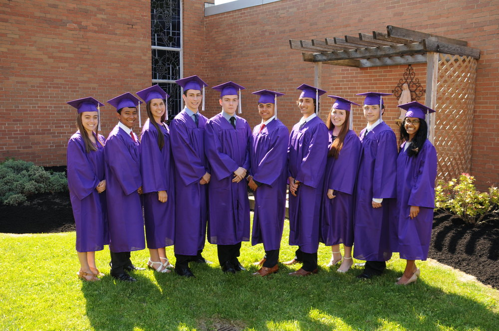 The Class of 2017 has 10 students who achieved a minimum of a 4.15 GPA, earning the status of Valedictorian.
