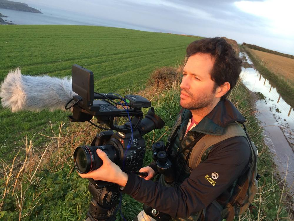 "Filming the documentary ""Poached"" in Devon, England (photo by Timothy Wheeler)"