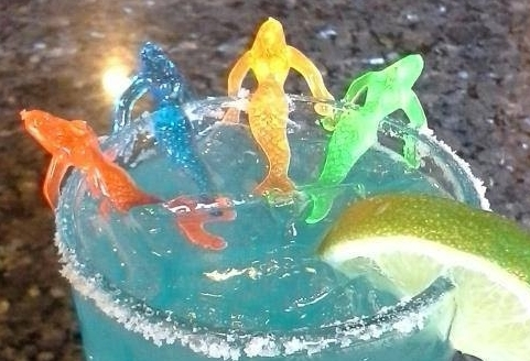 A delightful arrangement of colorful mermaids. Courtesy: Blue Mermaid