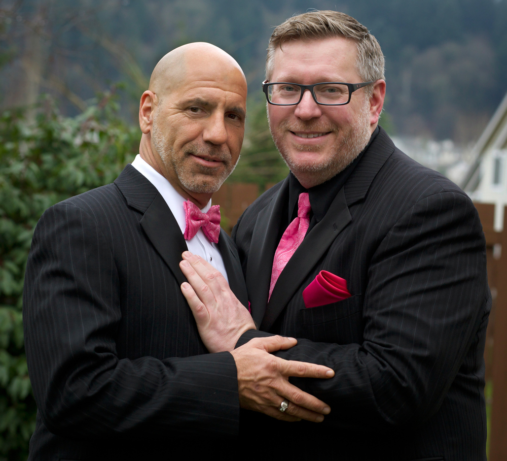 ©Beatriz Terrazas  Warren Nadeau and Steve Oligmueller eloped to Seattle because gay marriage is legal in Washington state.