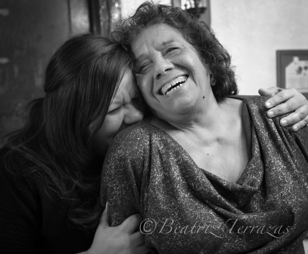 Cynthia Montes shares a moment of joy with her mother, Irma.