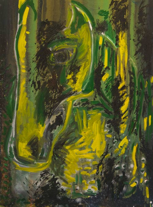 The Green Horse (Oil 38x24)
