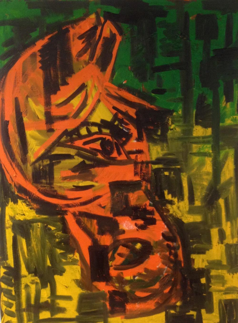 """Thinker  ( Oil 48""""x36"""")"""