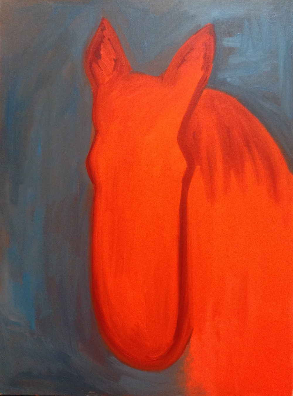 """Red Faced 40""""x30"""""""