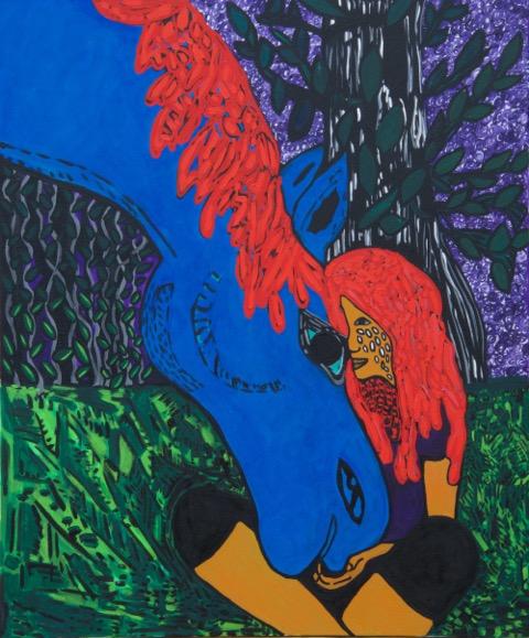 """Twilight Knight (Oil 72""""x60"""")"""