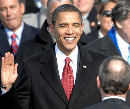 President Obama takes oath in 2009