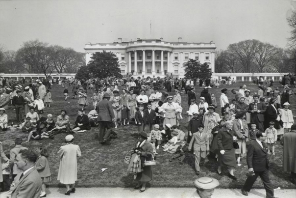 White House Easter Egg Roll, 1953;  The White House