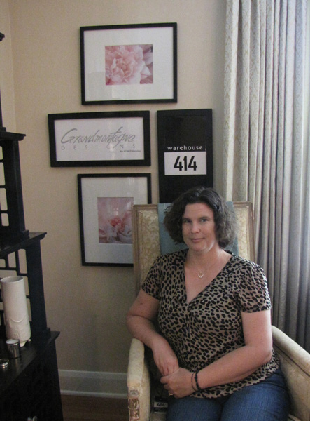 With my photos in the master bedroom