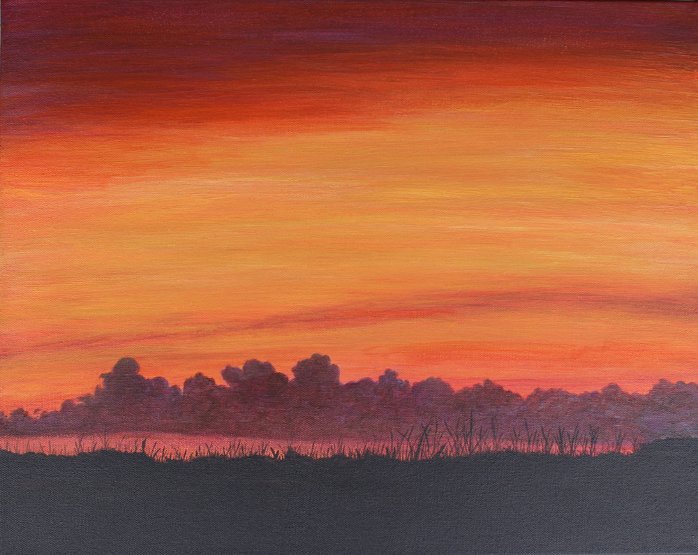 SUMMER EVENING'S SUNSET, ACRYLIC