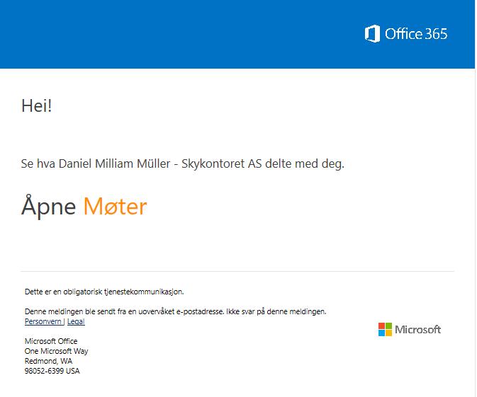 Sharepoint: Åpne delt mappe eller dokument på SharePoint med Microsoft-konto 1