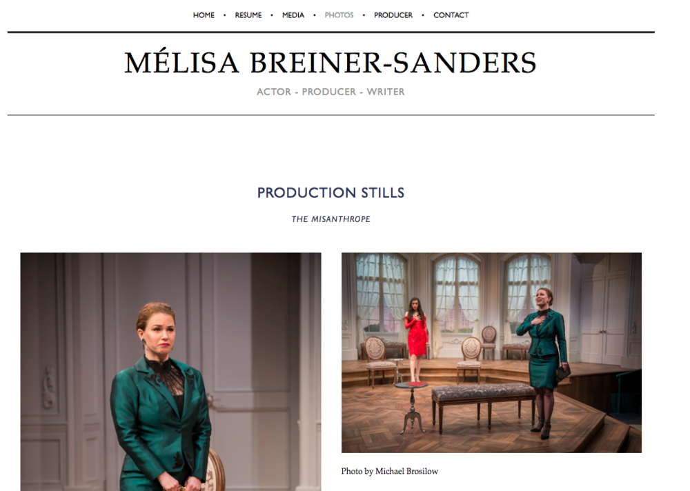 MelisaBS.com - Production Stills Page