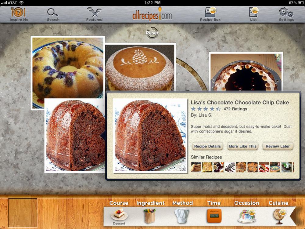 All recipes tiene versión básica gratuita para iPad, o una profesional por USD4.99.