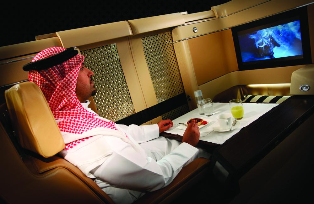 En Ethihad Airways de Abu Dabi el lujo es abosluto, apenas para las billeteras de los jeques.