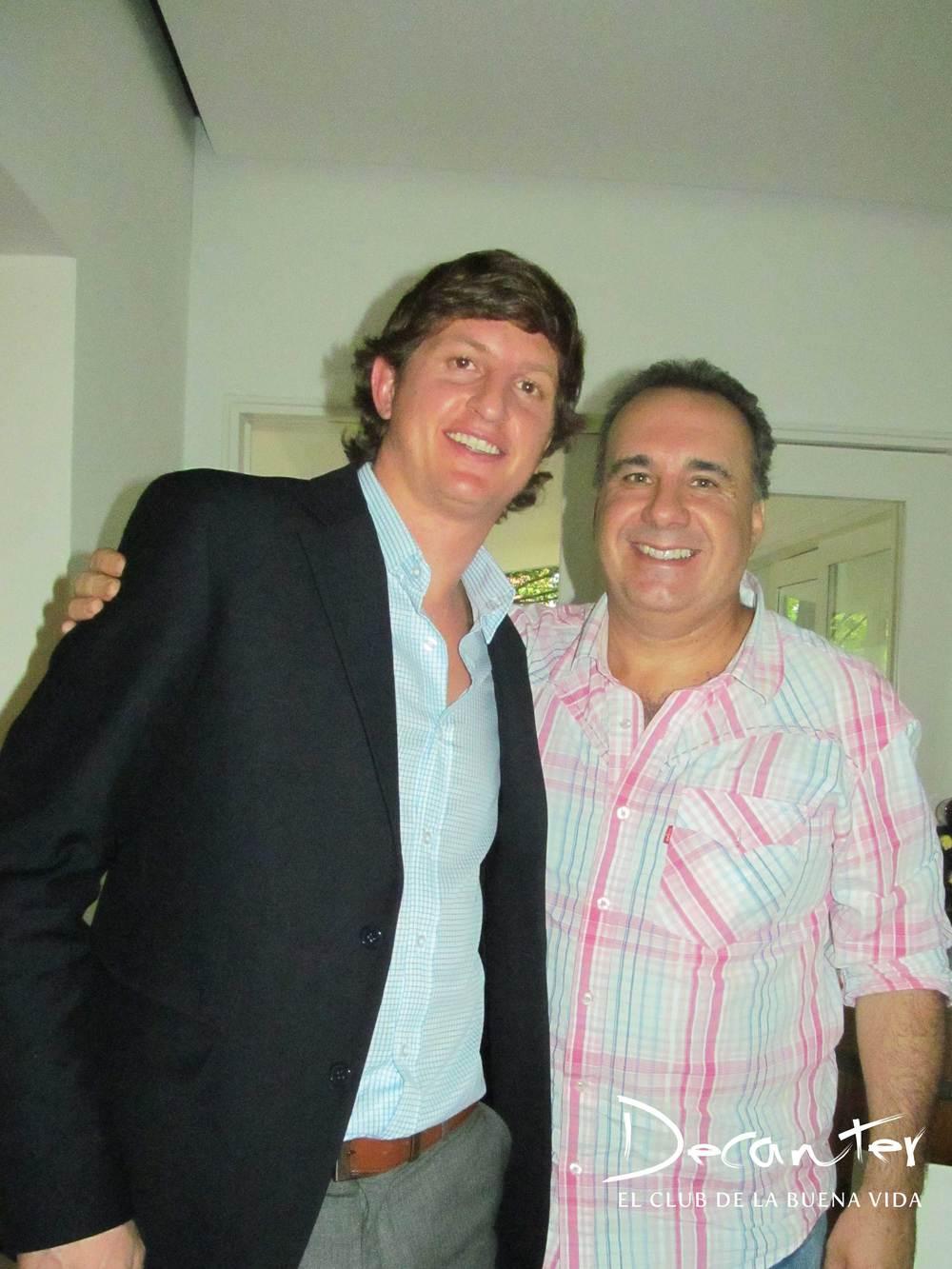 Diego Pulenta y Luis Palero, el hombre de los choripanes.