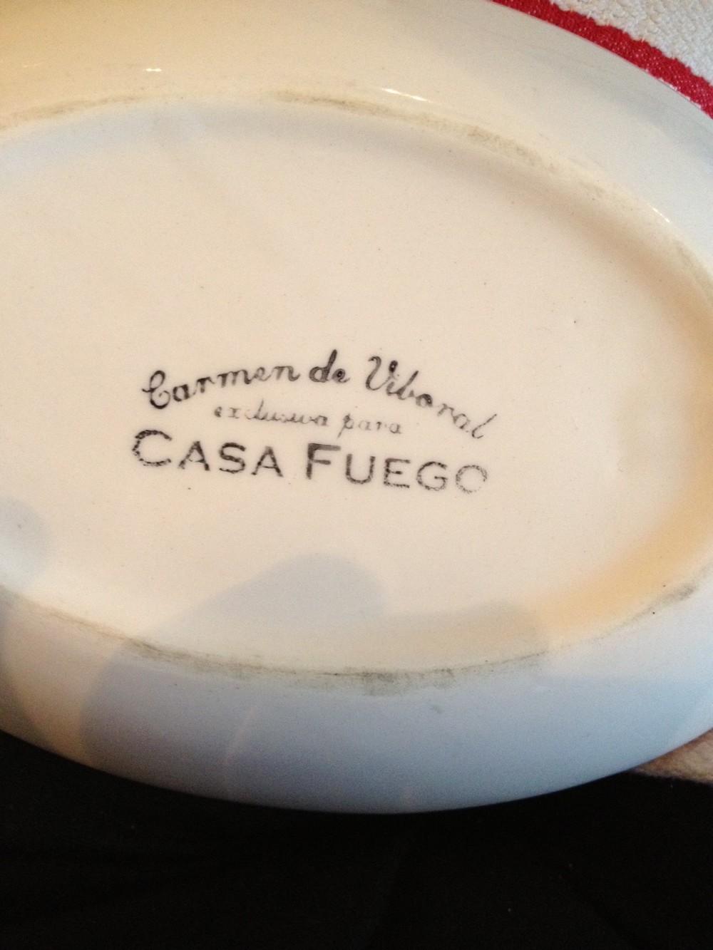 Vajilla de Casa Fuego, encargada exclusivamente para el restaurante en el municipio antioqueño de Carmen de Viboral.