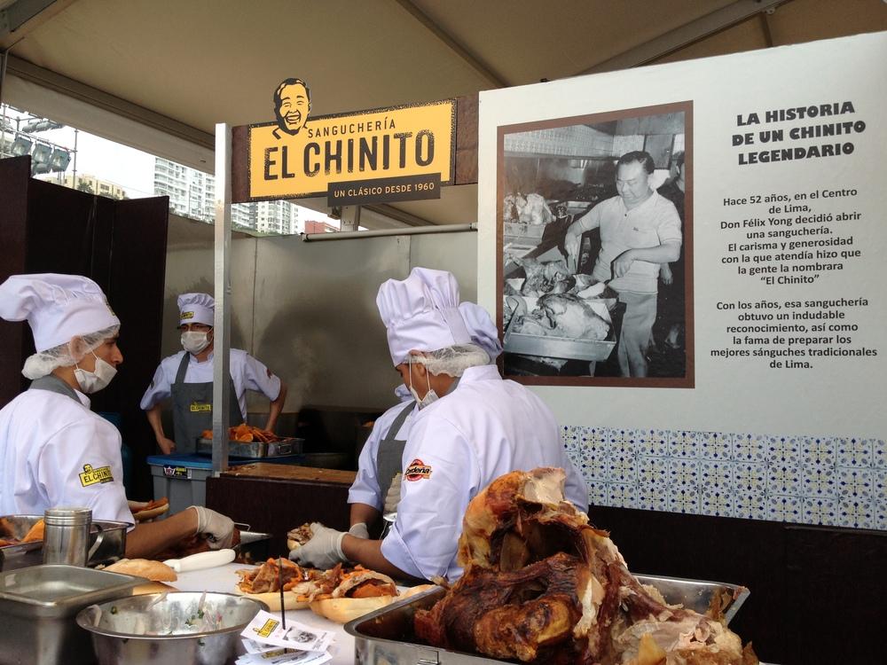 La sanguchería El Chinito y su par La Lucha, son dos de las favoritas de Mistura.