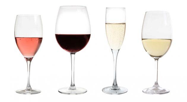 Copa según el tipo de vino.