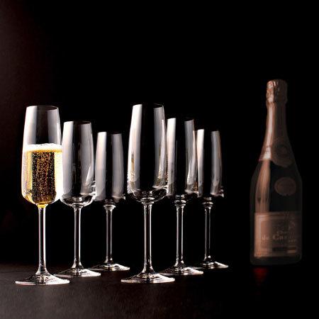 Copas Riedel para champañas y espumantes.