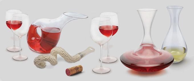 Marcas como Pulltex tienen decantadores de distintos estilos, según el tipo de vino.