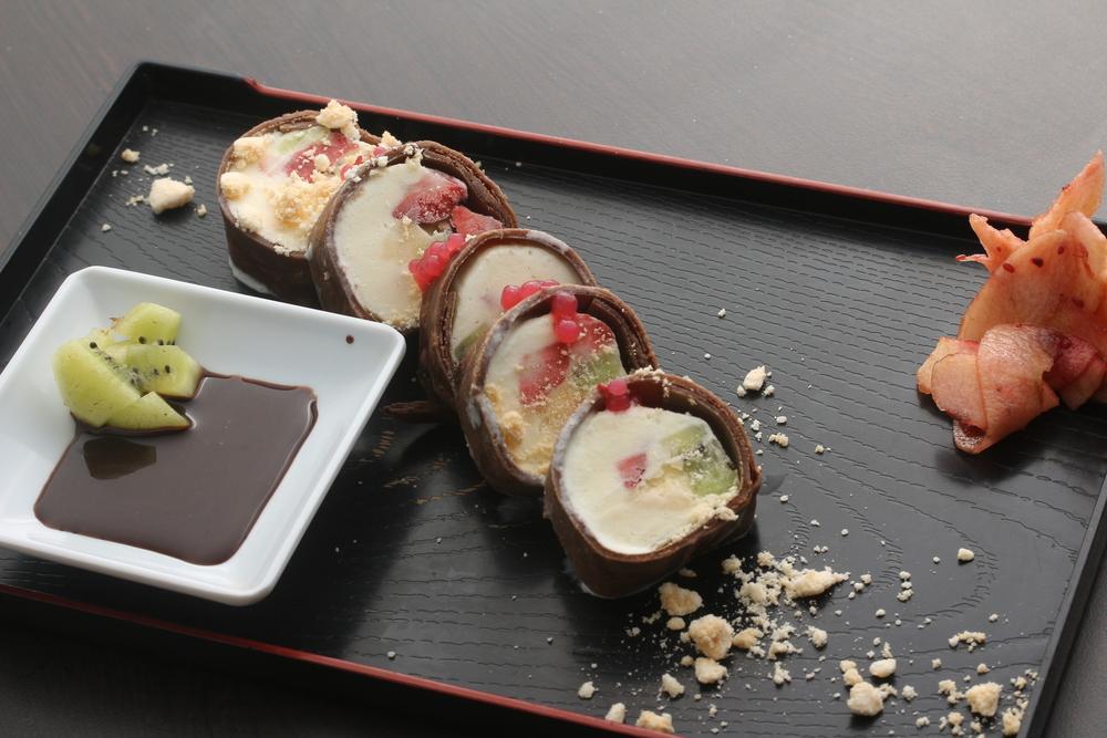 Sushi de helado