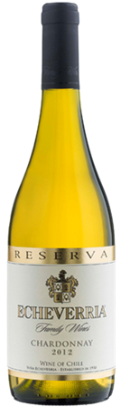 Echeverria Unwooded Chardonnay Reserva 2015