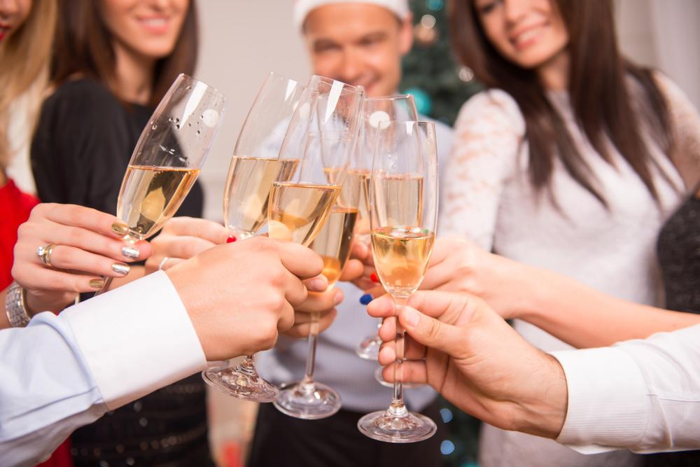 Celebracion con brindis