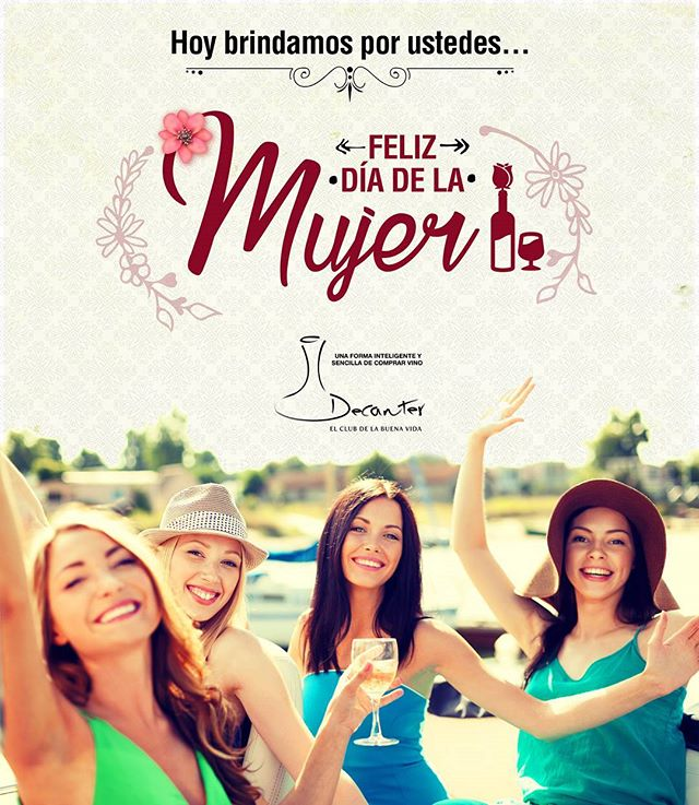 Felicitamos a todas las mujeres en su día!!!Hacemos un brindis especial por cada una de ustedes, salud!!! #diadelamujer #brindis #vinos #clubdevinos #decantercolombia