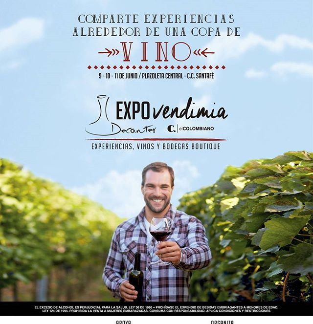 Te esperamos!!! #expo #clubdevinosdecanter #decantercolombia #vinos #copadevino