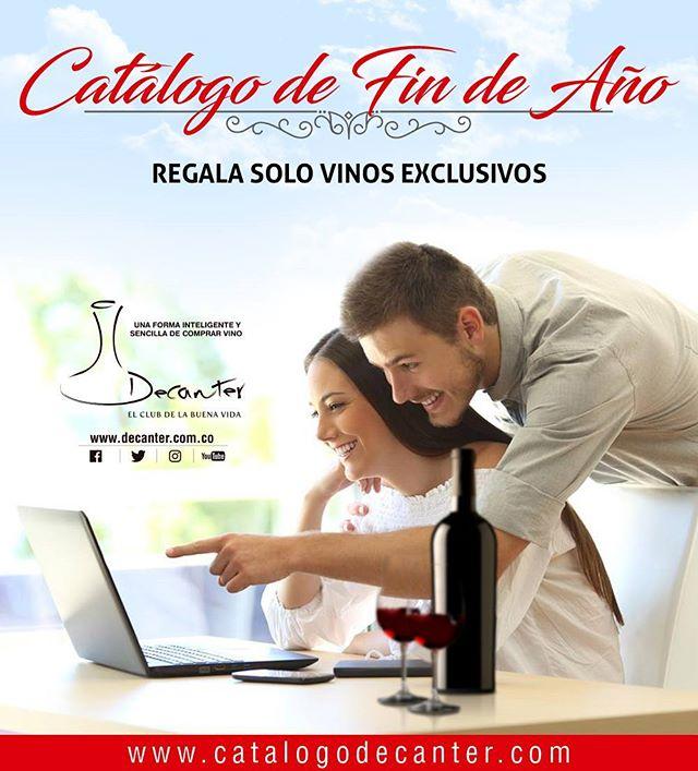 Ingresa hoy a www.catalogodecanter.com y sorprende a quienes más quieres con nuestros vinos exclusivos!!! #vinos #findeaño #decanter #clubdevinos #decantercolombia #2017