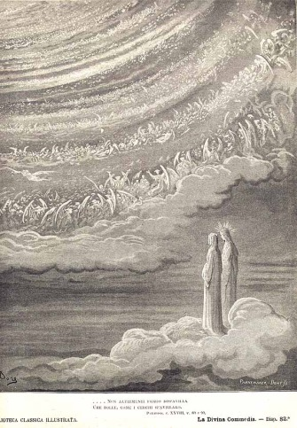 Dante and Beatrice see God...     Gustave Dore