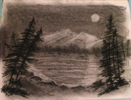 My first landscape charcoal.