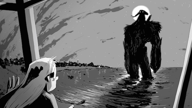 A frame from the graphic novel I Kill Giants.