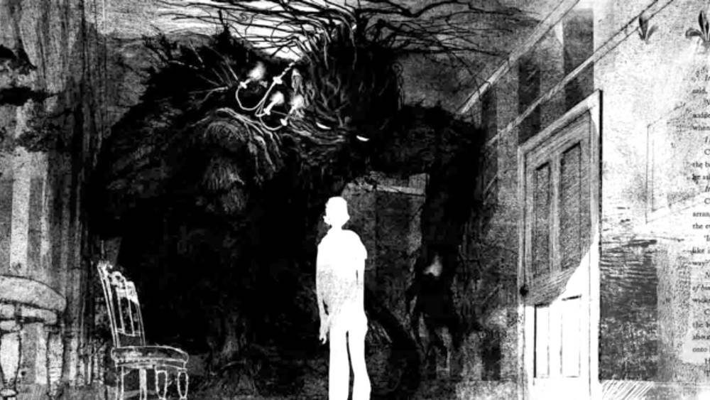 Artwork from the book A Monster Calls.