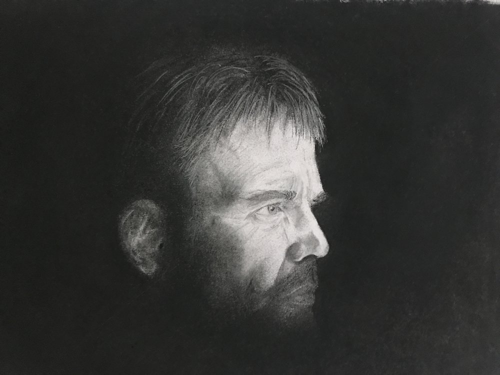 My latest charcoal: Lorne Malvo from  Fargo  Season 1