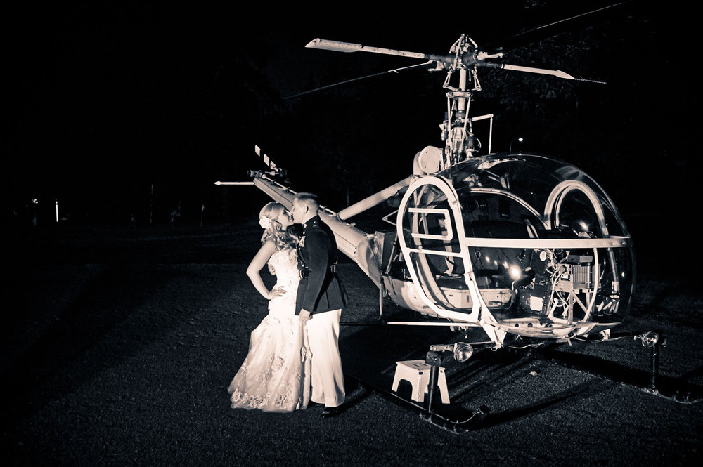 Helicopter Send-Off at The Aerie at Eagle Landing - Wedding Venue Happy Valley, Oregon