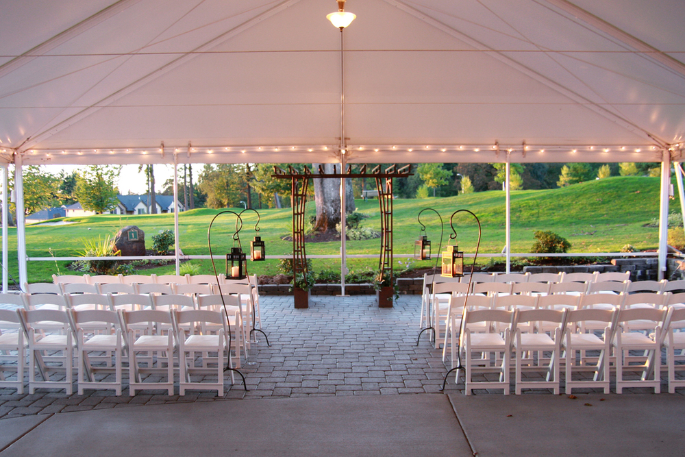 Tented Ceremony at The Aerie at Eagle Landing - Wedding Venue Happy Valley, Oregon