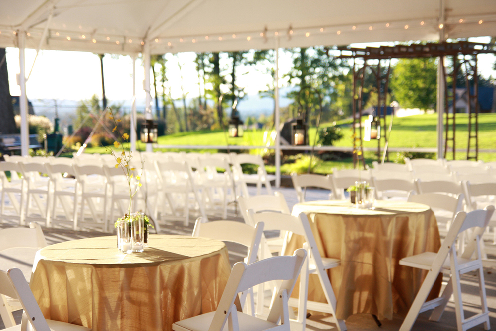 Sparkling Tent Reception at The Aerie at Eagle Landing - Wedding Venues Happy Valley, Oregon